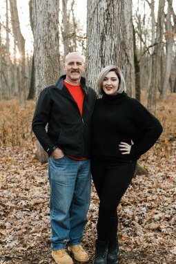 My husband, Greg and beautiful daughter, Evanne