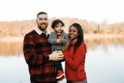 My son, Travis and his lovely wife, TaMeka with Remy